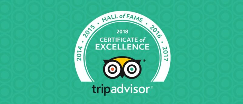 We Earned the Certificate of Excellence 'Hall of Fame' Hunter Valley